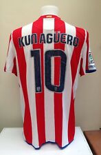 Atletico Madrid Football Shirt Jersey KUN AGUERO 10 Adults XL Nike Spain