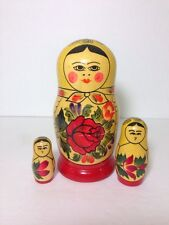 Russian Nesting Dolls Vintage 3 Pieces Graduated Wooden matryoshka