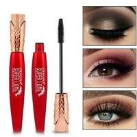Black 4D Eyelash Silk Fiber Mascara Extension Waterproof Curing Longlasting U1Q5