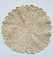 A15 Antique Crochet Knit Lace Small Round Doily Doilies Home Decor Dollhouse Rug