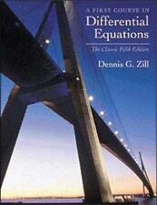 A First Course in Differential Equations Classic Edition by Dennis G. Zill (2000