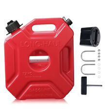 1.3 Gallon Gas Container Portable Fuel Can+Mounting Kit for Cruise Motorcycle