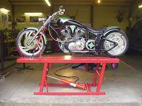 Motorcycle lift table PLANS! Yamaha Honda Suzuki Kawasaki  xs cb CFL Bmw Buell
