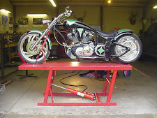 Motorcycle lift table PLANS! Harley bagger chopper bobber  xs cb CFL Bmw Buell