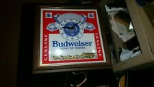 Vintage Lighted Budweiser Beer Clock Sign, Working, Free Shipping, King of Beers