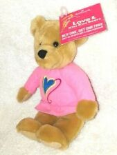Hallmark Love & Kiss Bears Plush Teddy Bear Stuffed Animal Pink Shirt