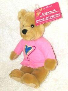 "Hallmark Love & Kiss Kiss Bears 1 Girl Magnetic Nose 10"""