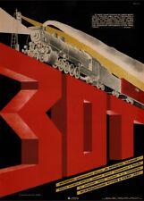Soviet Constructivism FREE RAILWAY SOCIETY Russian Propaganda Poster