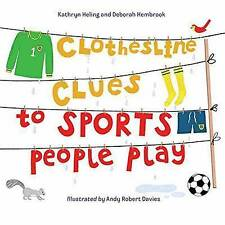 NEW Clothesline Clues to Sports People Play by Kathryn Heling