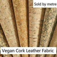 Vegan Cork Leather Fabric Synthetic Leather Bag Furniture Decor By Metre Crafts