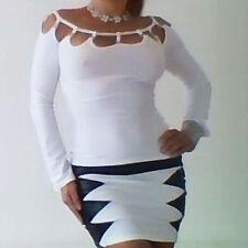 Extravagantes Gothic Shirt Steinchen Du wirst es lieben elegantes Top weiss