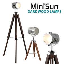 Stylish Chrome Wood Vintage Retro Industrial Studio Style Adjustable Floor Lamp