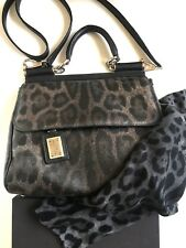 100% Authentic Dolce Gabbana Sicily Leopard Bag and Scarf DG