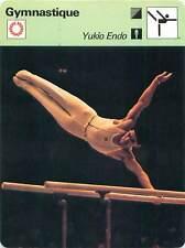 FICHE CARD: Yukio Endo Japan Barres parallèles Artistic gymnast Gymnastics 1970s