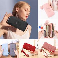 Women Ladies PU Leather Long Wallet Purse Card Holder Bag Clutch Handbag