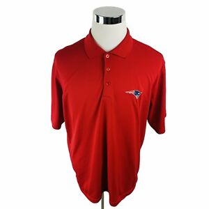 New England Patriots NFL Antigua Red Short Sleeve Polo Shirt Men's Large L