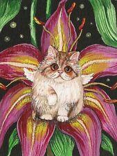 1.5x2 DOLLHOUSE MINIATURE PRINT OF PAINTING RYTA 1:12 SCALE CAT LITTLE KITTEN