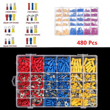Car Wire Assorted Insulated Electrical Terminals Connectors Crimp 480pcs Box Kit