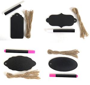 Deluxe Wooden Blackboard Gift Tags Christmas Labels & Chalk Marker Pen CR0376
