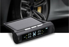 Universal Car Solar Wireless TPMS Tyre Tire Pressure Monitor System+4 External
