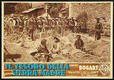 FOTOBUSTA 2, IL TESORO DELLA SIERRA MADRE, BOGART, TIM HOLT, J.HUSTON, POSTER