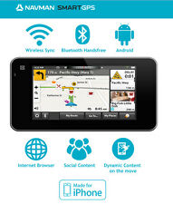 "Navman SmartGPS 6"" GPS Navigator Touch screen Bluetooth WIFI Internet Browser..."