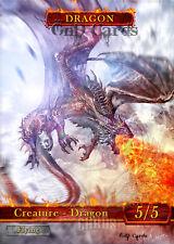 3x Dragon #4 Custom Altered Tokens MTG (for Dragonmaster Outcast)