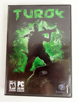 Turok Video Game PC 2 DVD-ROM Video Game 2008 DVD Case No Slipcover