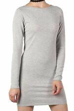 Dress Plain Long Sleeve Stretch Bodycon Dress UK Made