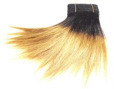 Prolungamento capelli echthaartresse ombre liscio lungo 20cm Nero Pizzo miele bionda