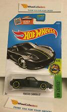 Porsche Carrera GT #74 * BLACK * Hot Wheels 2016 USA Card * M4
