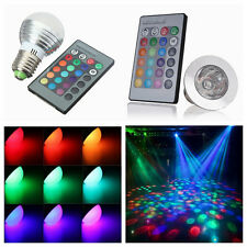 Epistar 3W 4W RGB E27 LED Spot Light Bulb Lamp 16 Color Downlight + Remote