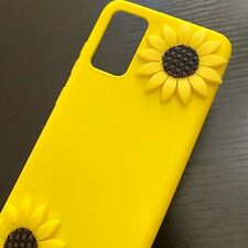 Samsung Galaxy S20 S20+ Ultra 5G - Soft Rubber Silicone Case Yellow 3D Sunflower