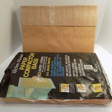 Kitchen Master Paper Compactor Bags 24 Pre-Cuffed Paper with Liner 9x17x16