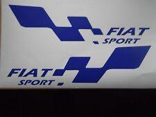 Fiat Sport coche grande pegatina de vinilo calcomanía X2