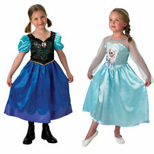 Frozen Anna Elsa Dress Costume twin pack Disney Gift Boxed Girls 5-6 years
