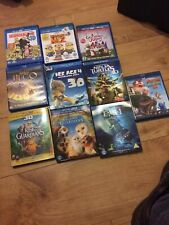 10 Kids Blu  Ray 3D Bundle Collection - 3D BluRay Only - 10 Children's Movies