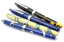 LOT OF 4 Wality/Airmail 69A Colourful Acrylic Handmade Eyedropper Fountain Pens