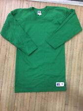 Vintage Russell Athletic Thick Football Jersey Medium 3/4 Sleeve Rare Cotton