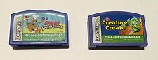 Leap Frog Leapster Game Cartridge Scooby Doo + Creature Create Lot Of 2 !