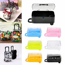 Mini Rolling Travel Suitcase Candy Box Wedding Party Favors Reception Baby Toy