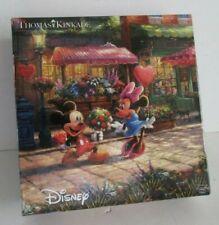 Thomas Kinkade Disney Mickey & Minnie Sweetheart Cafe 750 Piece Puzzle