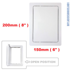 Access Panel 150 x 200 mm - Hole White Inspection Hatch Hinged Detachable Door