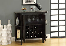 "Monarch Specialities Home Bar - 36""H / Cappuccino With Bottle / Glass Storage"
