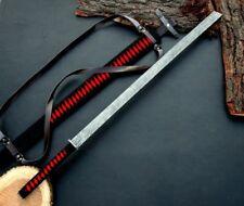 BEAUTIFUL CUSTOM HANDMADE DAMASCUS STEEL SAMURAI KATANA SWORD