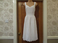 TU SIZE 18 white cotton broderie anglaise strappy summer dress