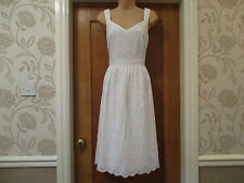 3d908989b4 TU SIZE 14 white cotton broderie anglaise strappy summer dress