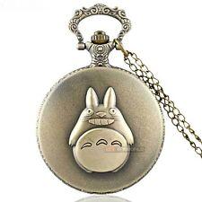 My Neighbour Totoro Bronze Tone Pocket Watch Pendant Necklace - XMas Gift Idea