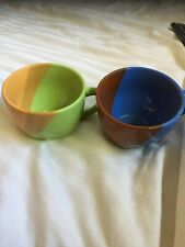 Beautiful Multi-Colored Sky Canyon Ceramic Espresso 2 Cups
