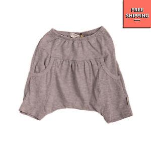 STICKY FUDGE Baggy Trousers Size 3-6M Melange Elasticated Waist